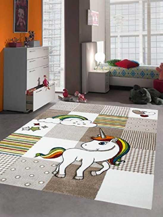 Tappeto con disegno unicorno, da Merinos