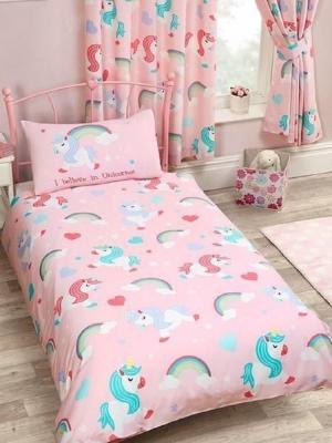 Biancheria da letto unicorno, da bol.com