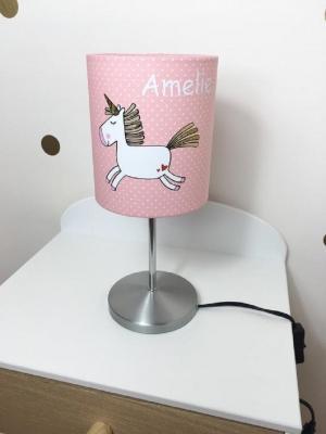 Lampada unicorno con nome, da Etsy