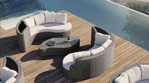 Set giardino rattan Yamelia di Artelia Design
