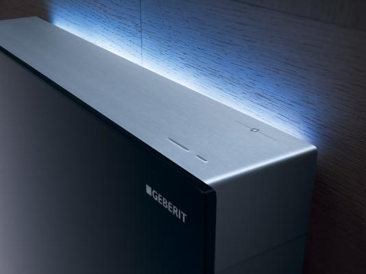 Cassetta per wc esterna Monolith di Geberit con luce a led