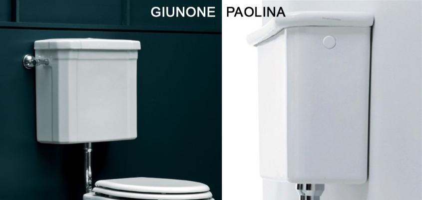 Cassette wc esterne a zaino in stile vintage su Bagno Shop