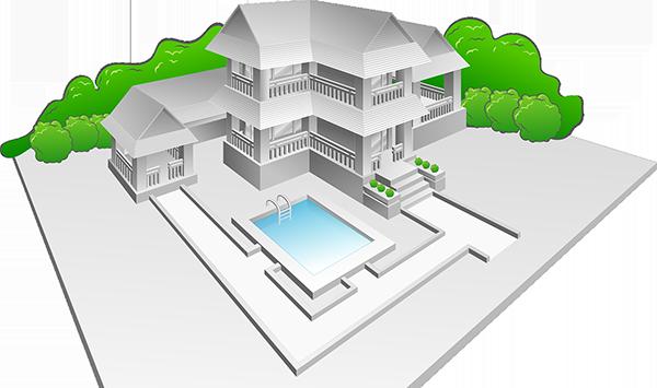 Una piscina non richiede il rispetto delle distanze previste per gli edifici