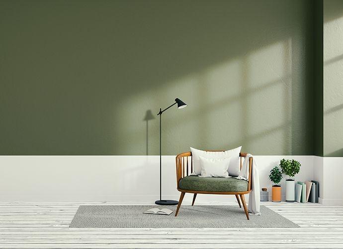 Parete pitturata verde chair San Marco