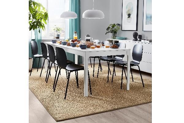 Tappeto in sisal Ikea Vistosoft in ambiente