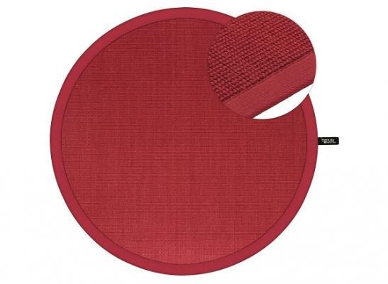 Tappeto in sisal circolare rosso di Benuta