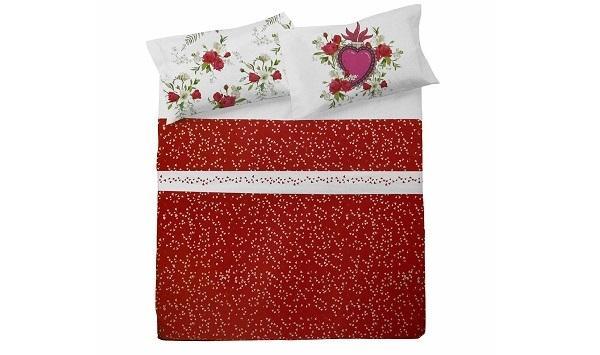 Completo lenzuola Passion di Novia per San Valentino