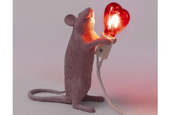 Lampada Mouse Lamp Love Edition di Seletti