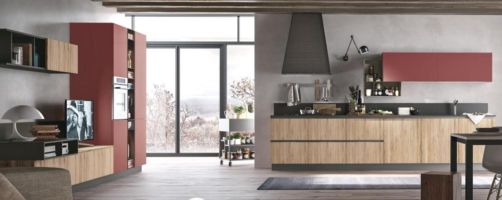 Cucina nel living Replay - Stosa