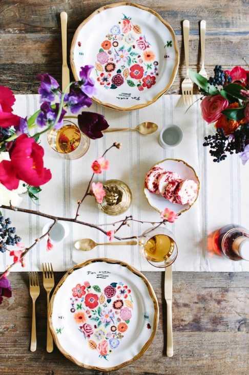 Buon gusto e creatività per una tavola di San Valentino perfetta, da marycostaphotography.com