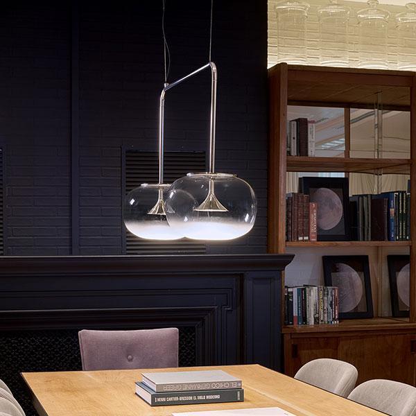 Alive lampadario in vetro 2 luce - Progetti in luce