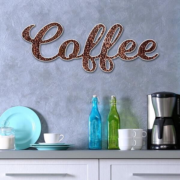 Scritta 3D coffee - Dekoidea
