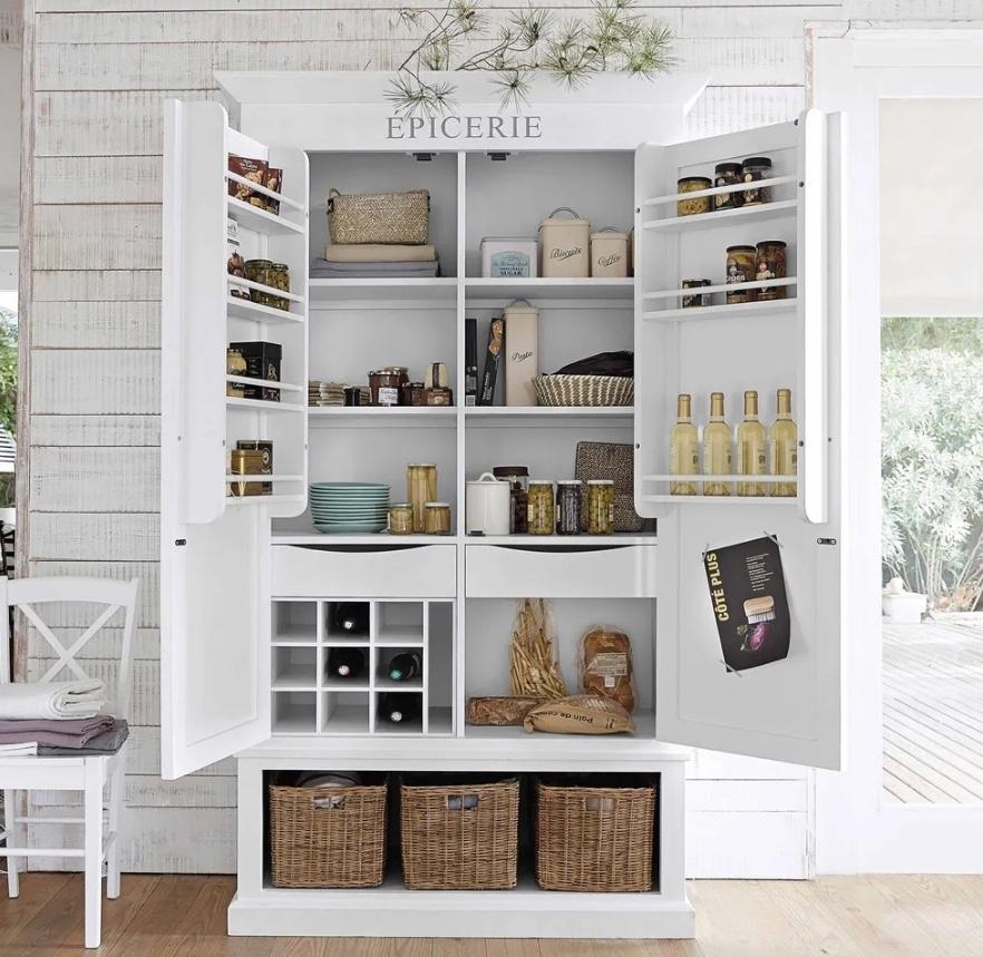 Dispensa in legno bianca provenzale, da Maisons du Monde