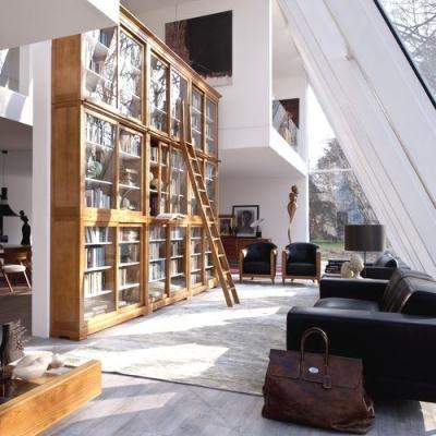 Libreria a tutta altezza Biedermeier - Morelato