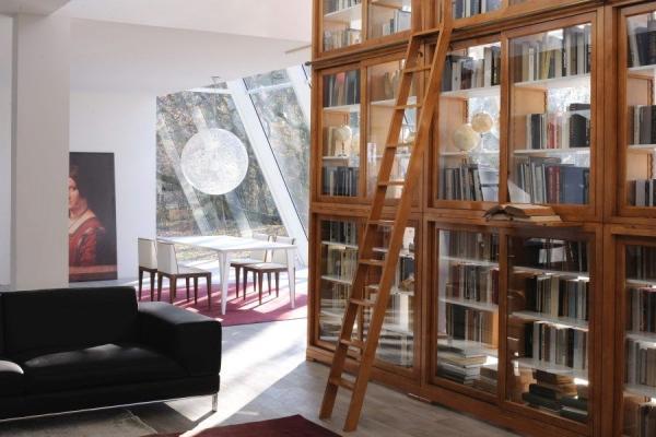 Libreria con scala Biedermeier - Morelato