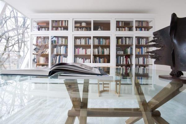 Libreria in laccato bianco Biedermeier - Morelato