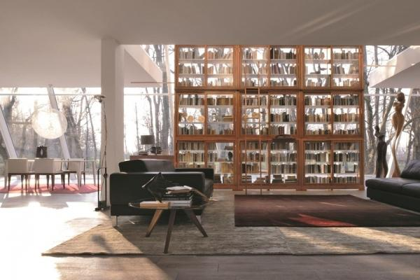 Libreria in ciliegio e vetro Biedermeier - Morelato
