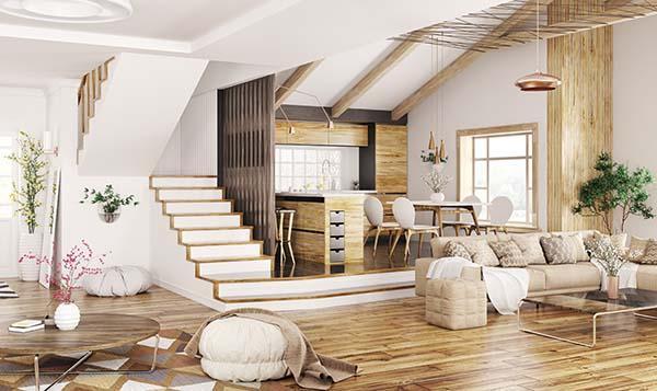 Un alloggio duplex, cioè su due piani
