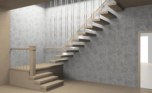 Una scala a giorno è una soluzione elegante ma richiede molto spazio
