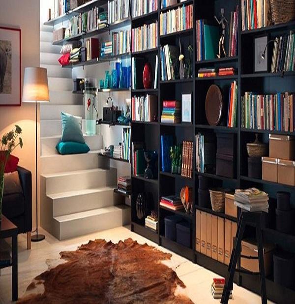 Libreria d'arredo a tutta parete IKEA