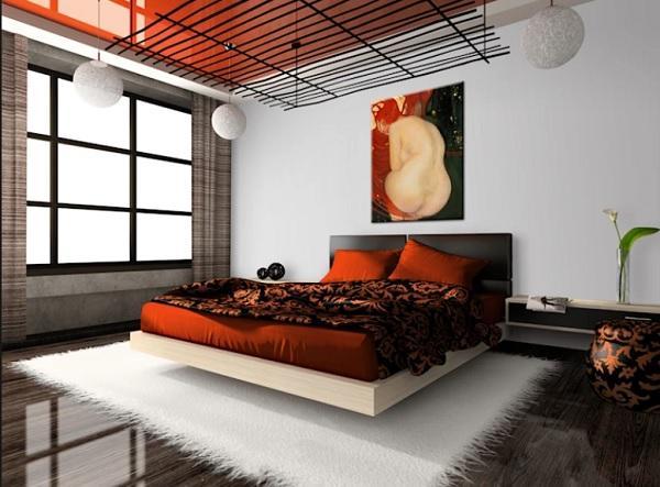 Lo scendiletto in camera da letto simbolizza la fenice