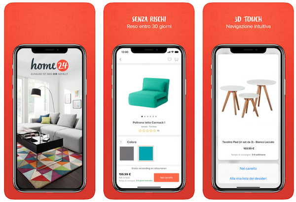 App Home24 per lo shopping online