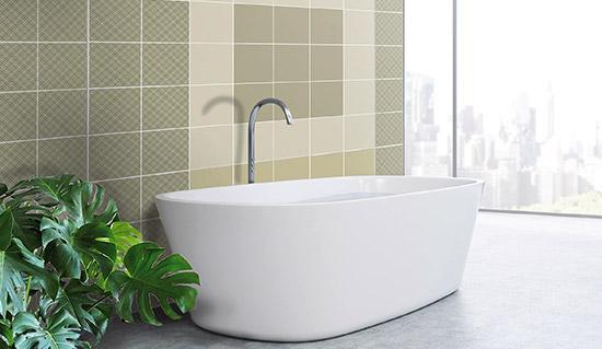Piastrelle adesive per il bagno