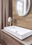 Piastrelle adesive per il bagno effetto legno