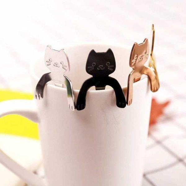 Posate design cucchiaini gatti su Amazon