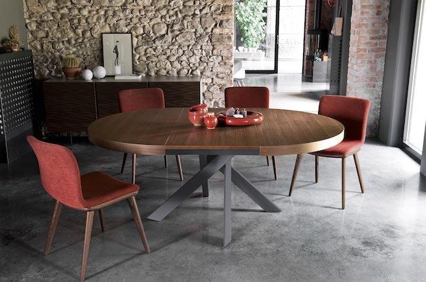 Tavoli allungabili rotondi: tavolo esteso, da Calligaris