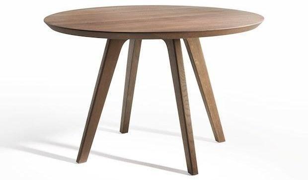 Tavolo rotondo legno con finitura al vino, da Passoni