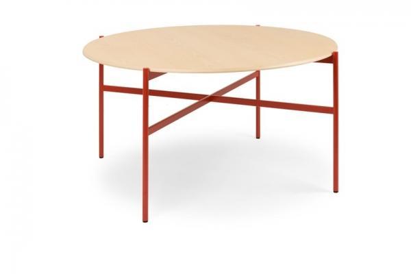 Tavolo rotondo legno e metallo colorato, da True Design