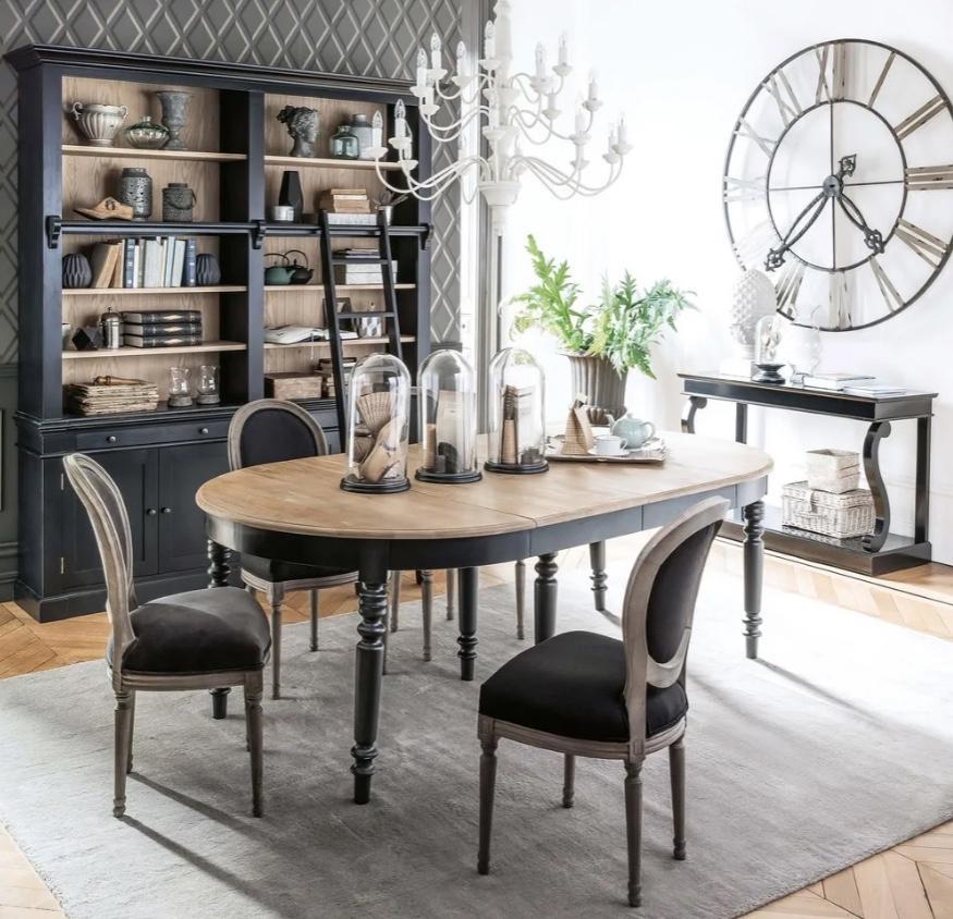 Tavolo rotondo allungabile classico, da Maisons du Monde