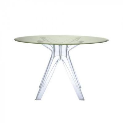 Tavolo rotondo design in policarbonato, da Kartell