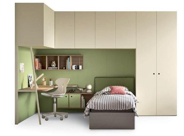 Nidi, by Battistella è la soluzione di armadio a ponte per letto singolo