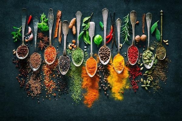 Food Photography composizione di spezie