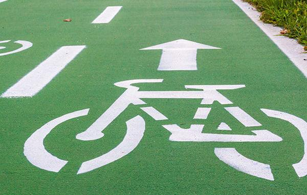 Pista ciclabile in asfalto verde, by RAS