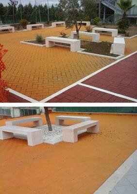 Giardino con pavimentazioni in asfalto colorato, by RAS