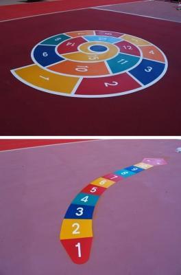 Giochi per bambini in asfalto colorato, by RAS