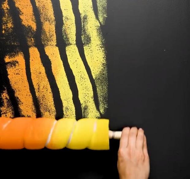 Idee creative per dipingere le pareti: effetto striato, parte 5, da 5-Minute Crafts