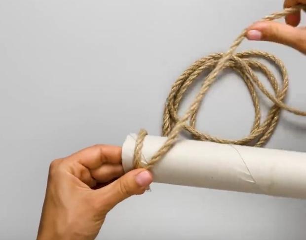 Dipingere le pareti in modo creativo con la corda, parte 1, da 5-Minute Crafts