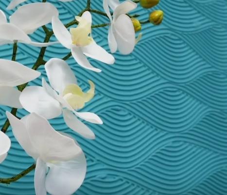 Decorare le pareti con l'effetto onde in rilievo, da 5-Minute Crafts