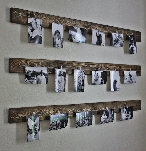 Arredare una parete con foto: effetto rustico, da heelsinthemud.wordpress.com