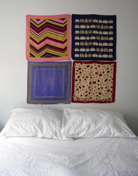 Idee per decorare pareti con i tessuti, da apartmenttherapy.com