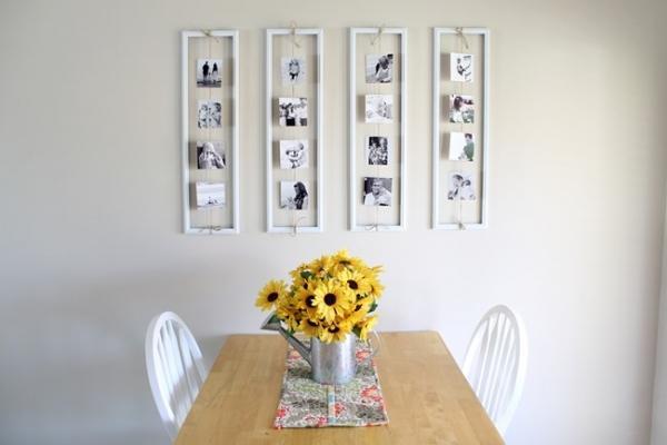 Arredare una parete con foto in modo originale, da alexamariezurcher.com