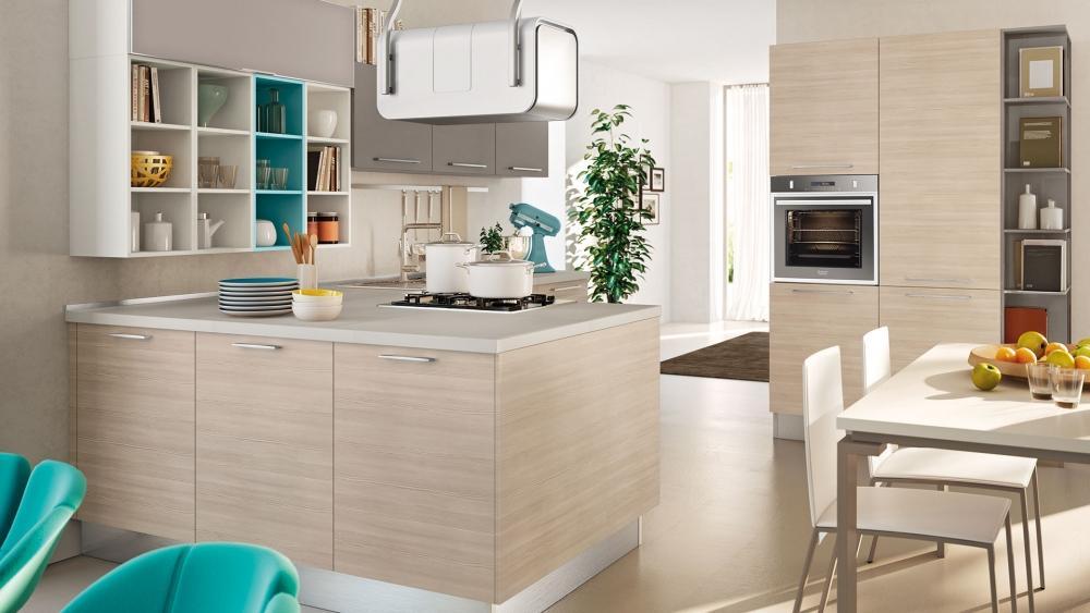 Cucina moderna in legno Swing di Lube
