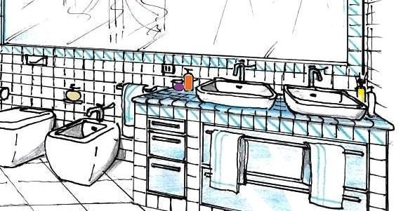 Bagno in muratura progettazione