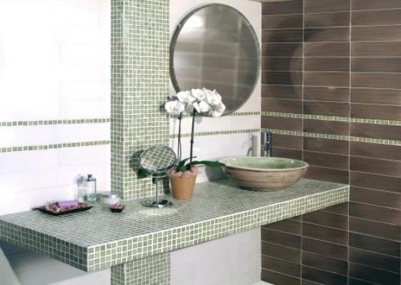 Bagno in muratura con mosaico - Vietri Ceramic Design