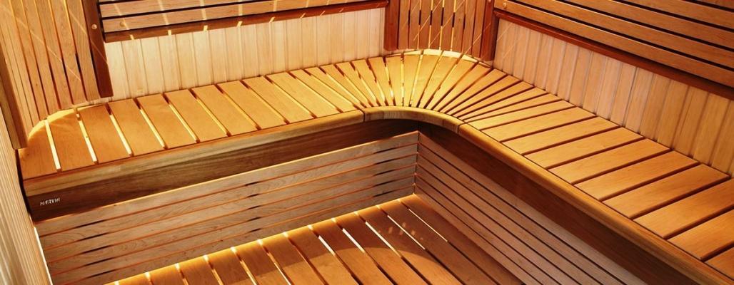 Panca angolare di sauna Harvia