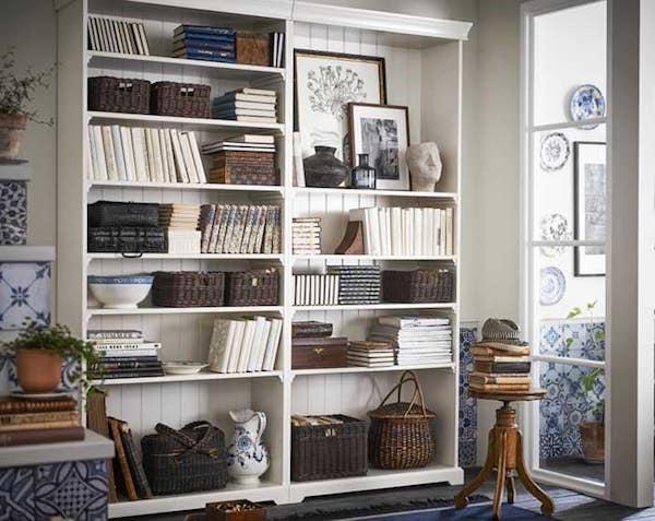 Libreria bianca Liatop
